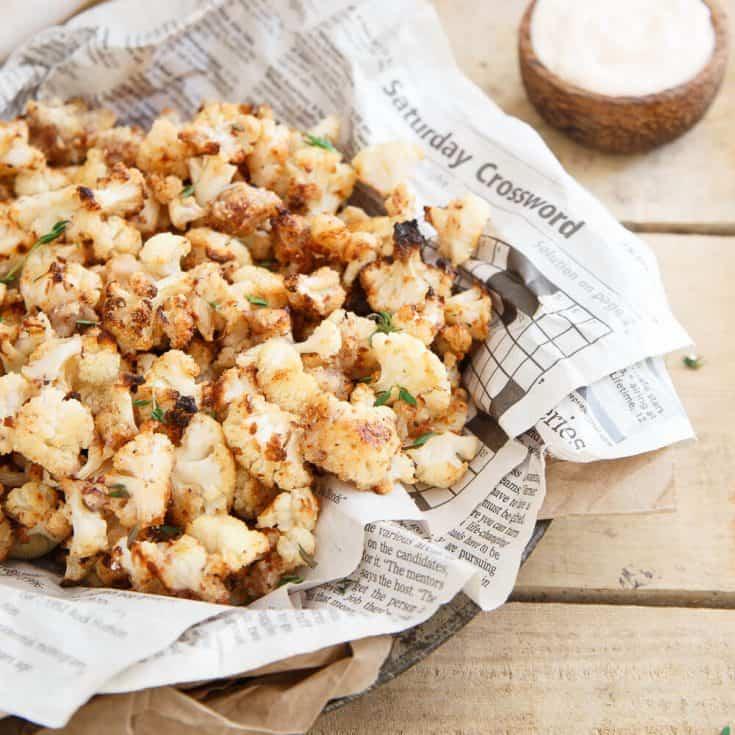 Salt and Vinegar Popcorn Cauliflower