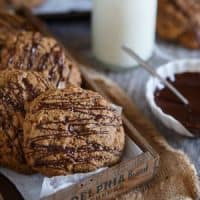 Chocolate Drizzled Salted Butter Pecan Cookies