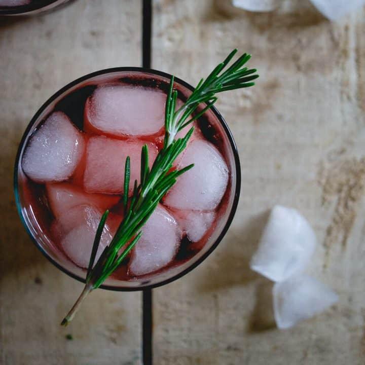 Tart Cherry Red Wine Spritzer