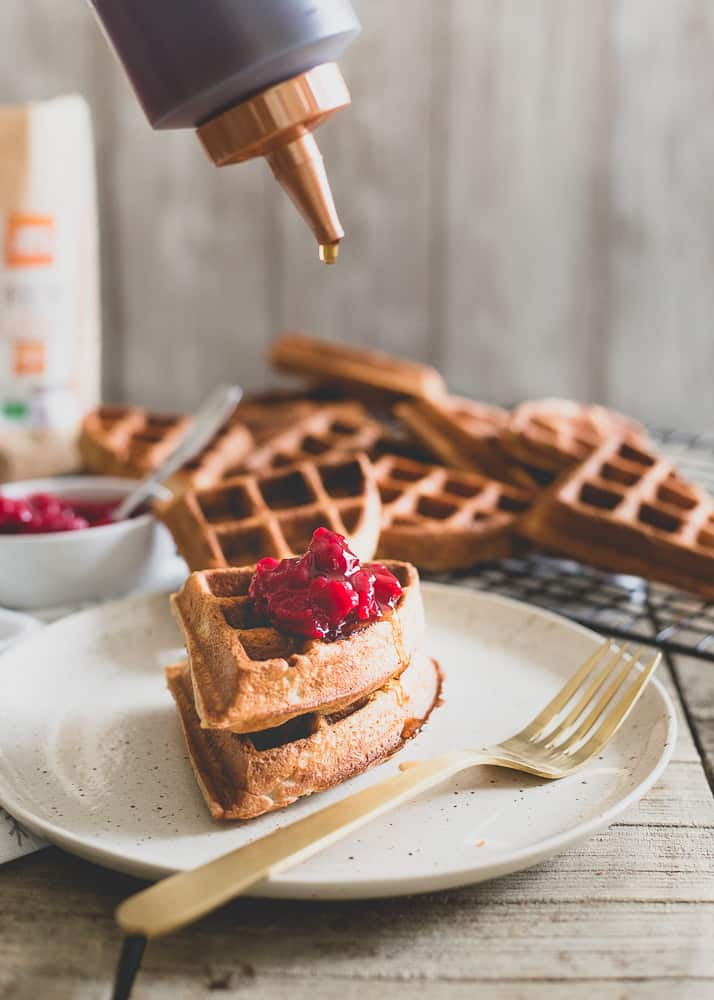 Gluten-free, grain free and paleo, these chestnut flour waffles make a delicious and cozy start to any winter day.