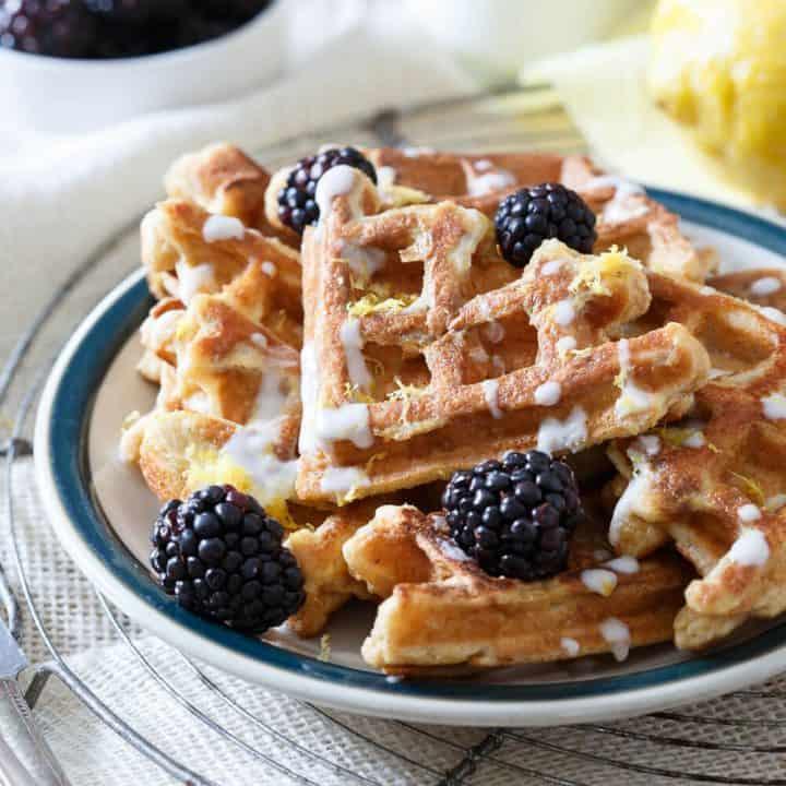 Lemon Vanilla Waffle French Toast