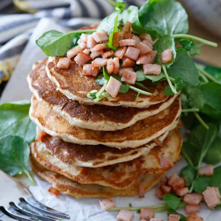 Savory Canadian Bacon Pancakes
