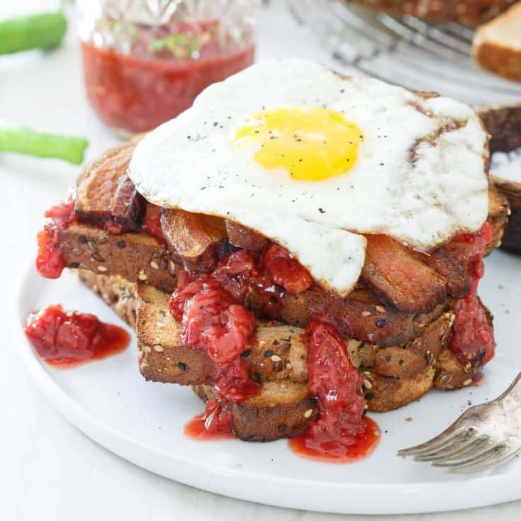 Strawberry Chile Jam Breakfast Sandwich