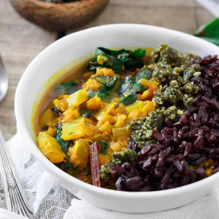 Turmeric Lentil Stew