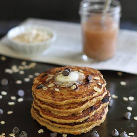 Sweet Potato Chocolate Chip Pancakes