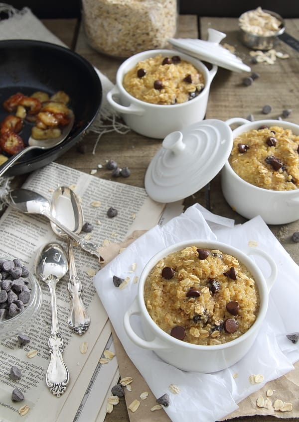 Caramelized Banana Chocolate Chip Breakfast Bake