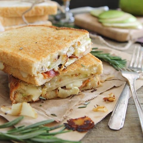 Pear Bacon and Bried Grilled cheese