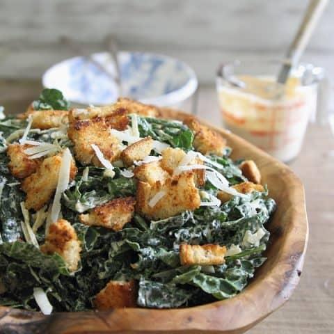 Sriracha Kale Caesar Salad