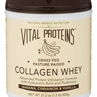 Vital Proteins Pasture-Raised, Grass-Fed Collagen Whey (Banana Cinnamon Vanilla), 21 oz Canister
