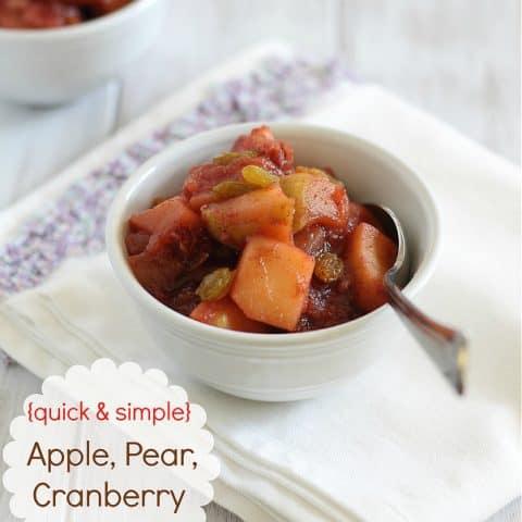 Apple Pear Cranberry Sauce