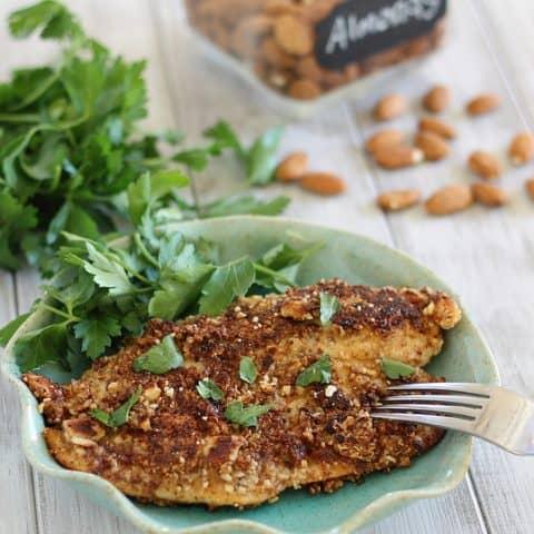 Dijon Almond Crusted Tilapia