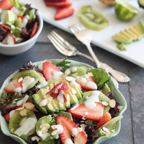 Strawberry Avocado Honey Lime Salad