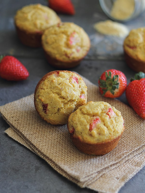 Strawberry Corn Muffins