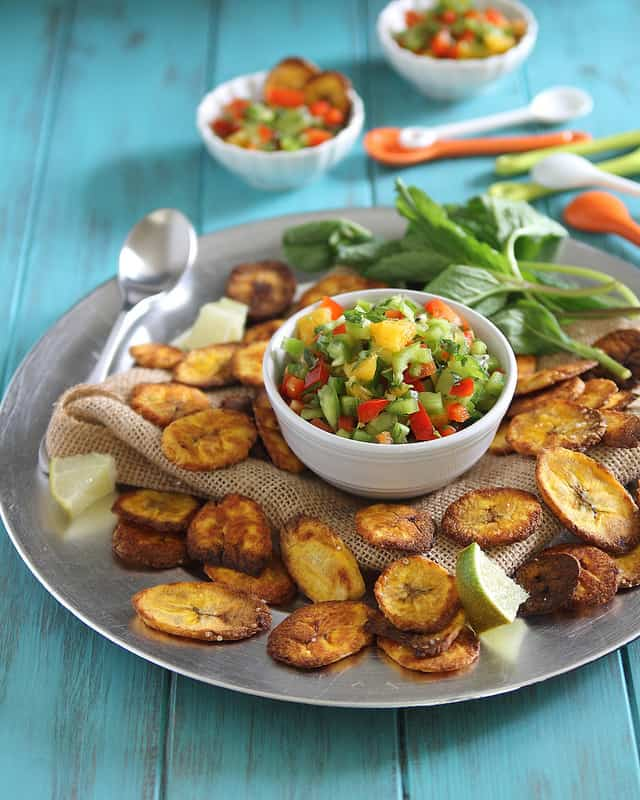 Plantain Chips and Salsa