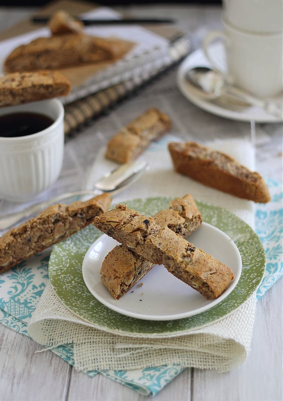 Ginger Almond Biscotti