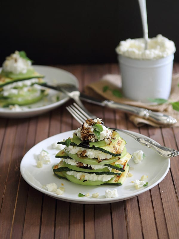 Grilled Zucchini Stack