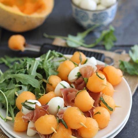 Melon Prosciutto & Mozzarella Sticks