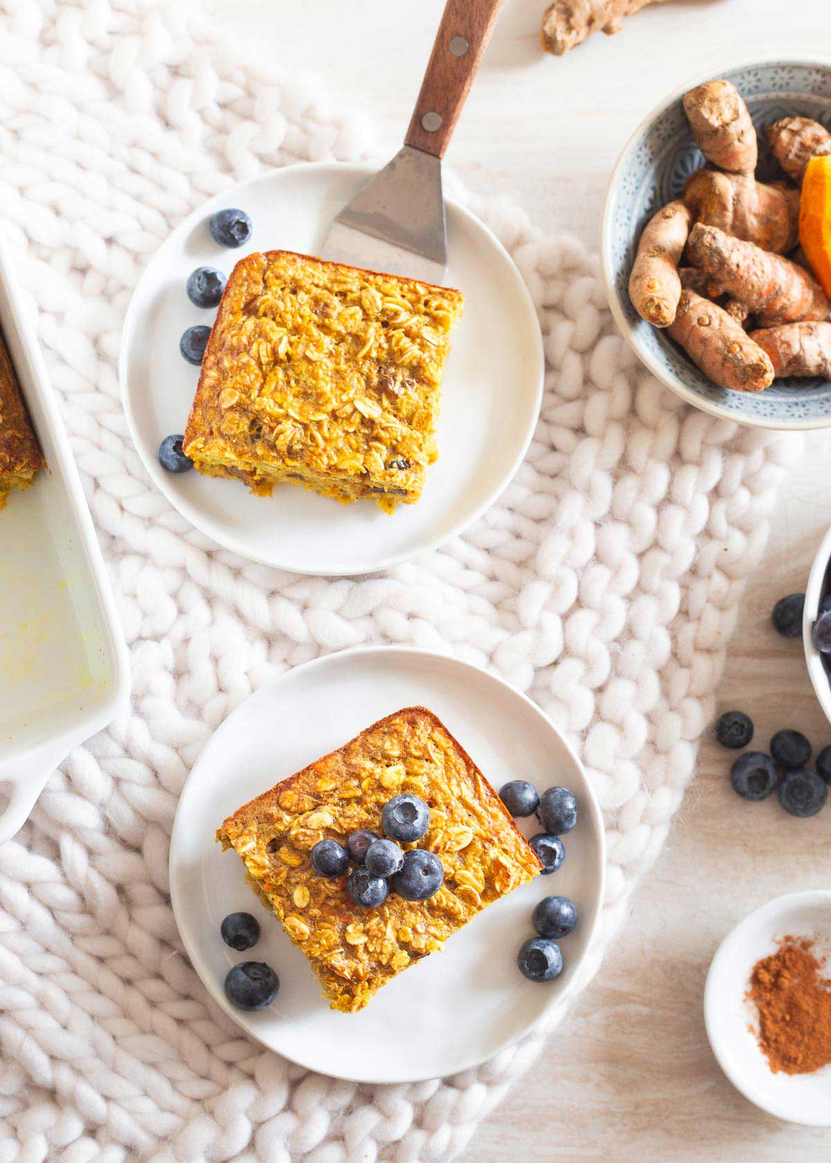 This anti-inflammatory turmeric baked oatmeal is a nutritious way to start the day!