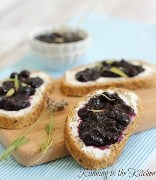 Blueberry Ginger Jam and Goat Cheese Crostini