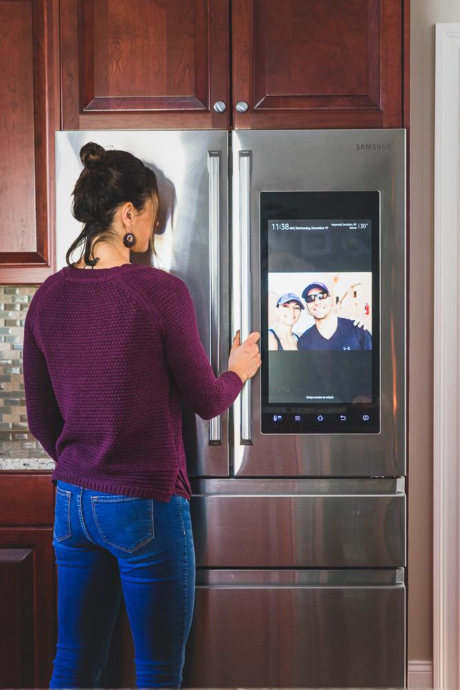 Samsung Family Hub Counter Depth Refrigerator smart screen