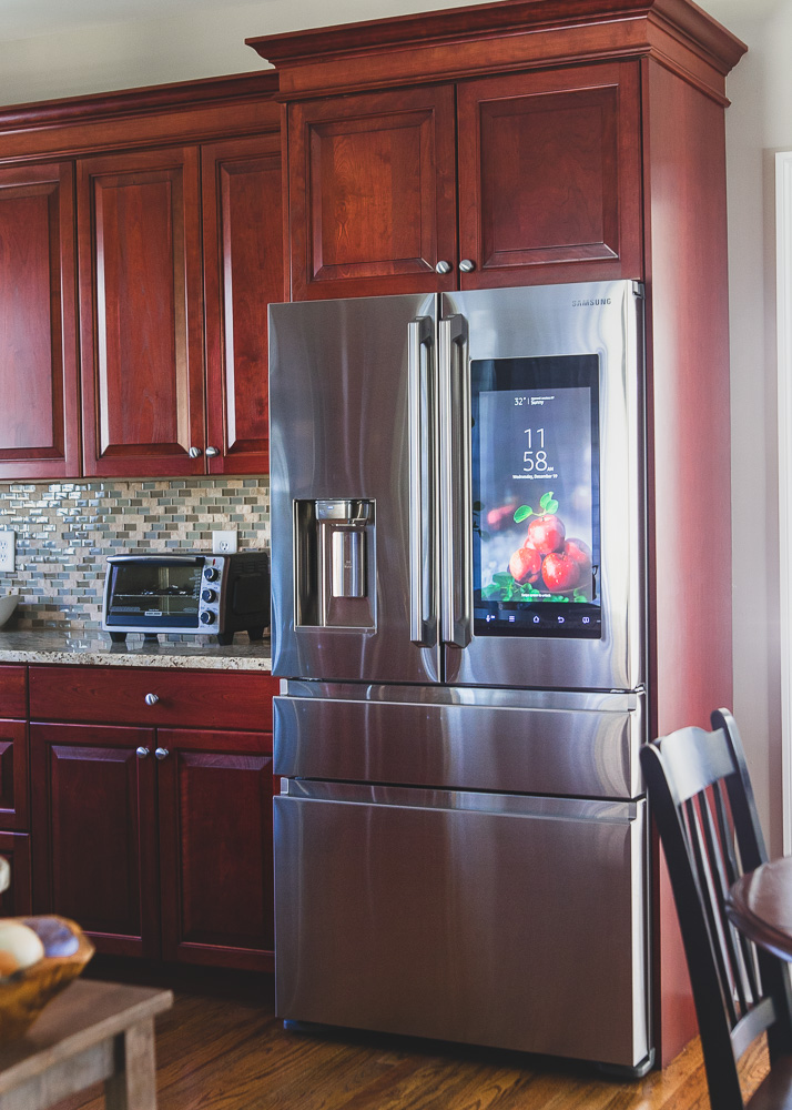 The Samsung Family Hub Counter Depth Refrigerator front profile.