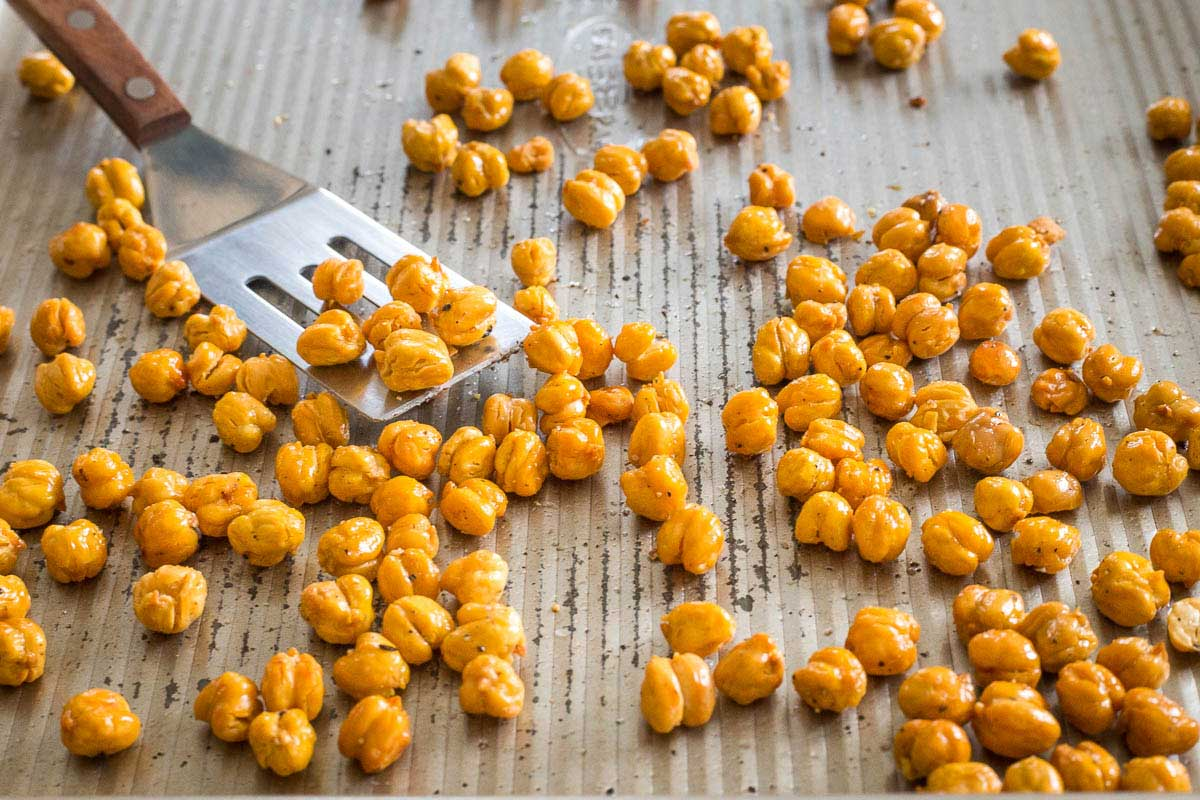 Make crispy, crunchy roasted chickpeas for a healthy snack or fun salad topper.