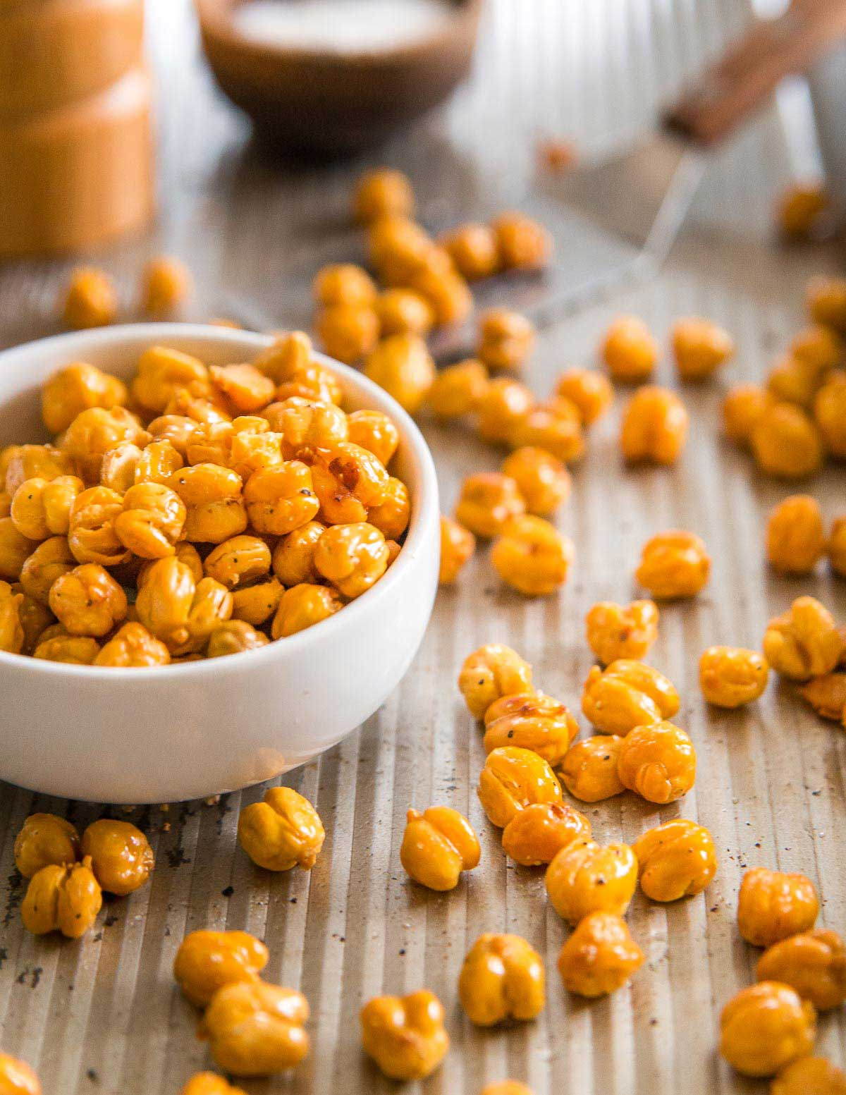 Use this simple method and learn how to make roasted chickpeas perfectly every time.