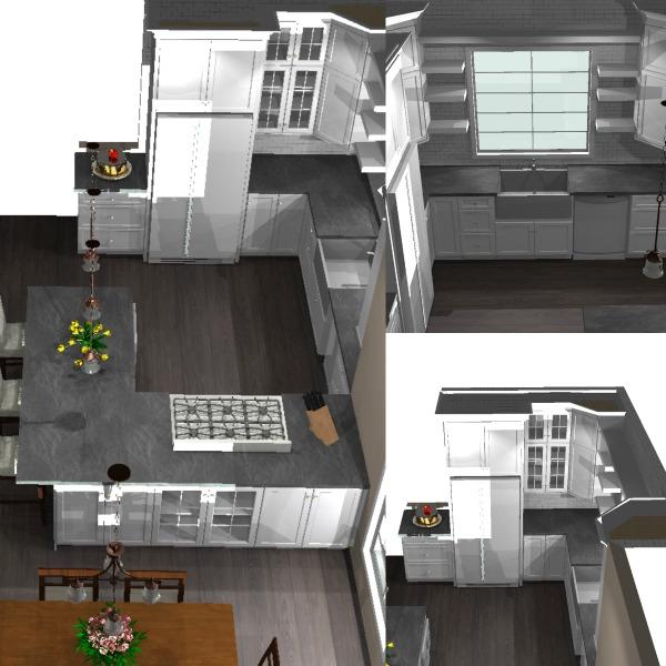 New design plans for a kitchen renovation