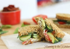 Grilled Zucchini Goat Cheese Panini with Pesto