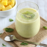 Pineapple Kiwi Mint Smoothie