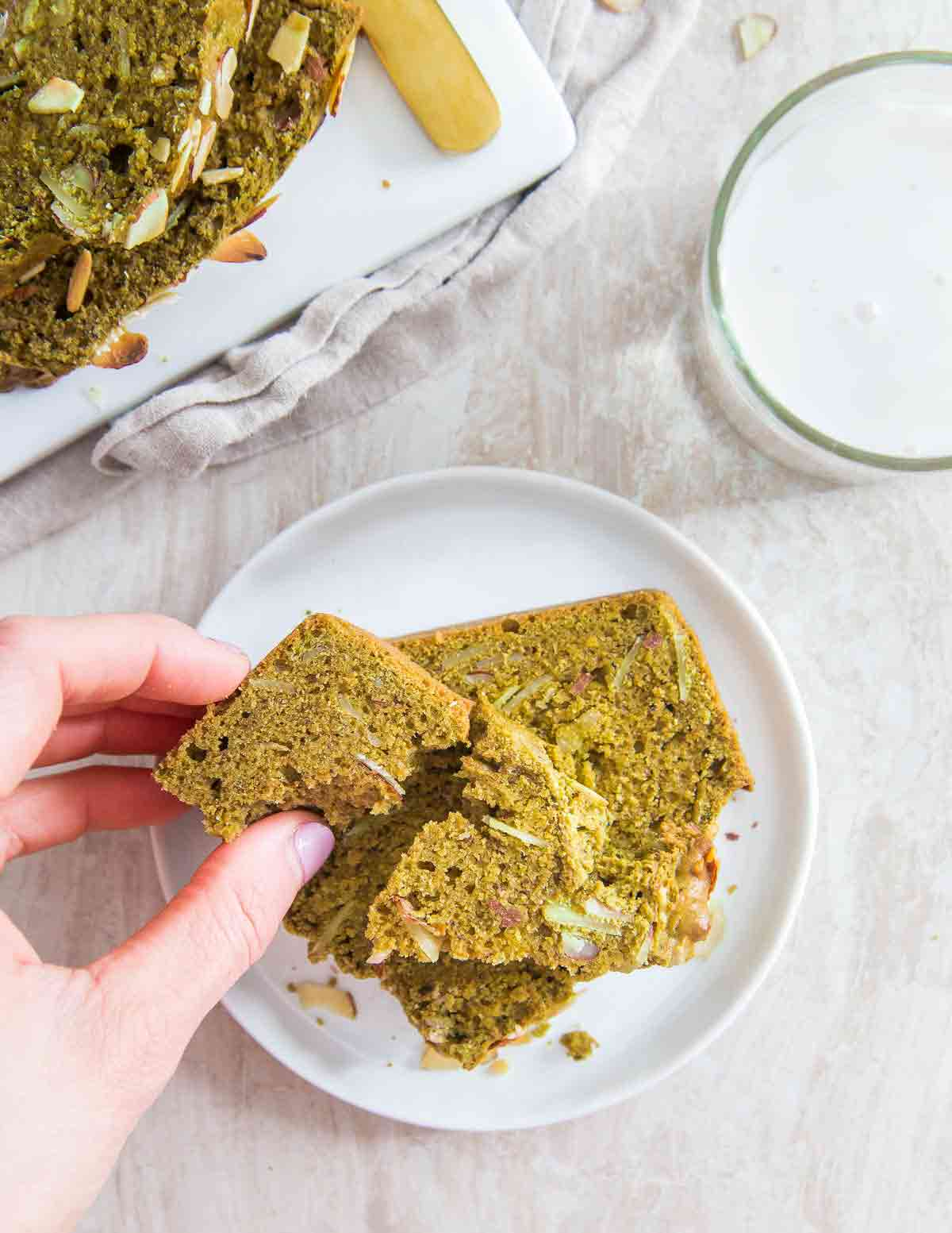 This matcha loaf bread is a simple and easy recipe packed with flavor and perfect for a delicious snack, dessert or breakfast.