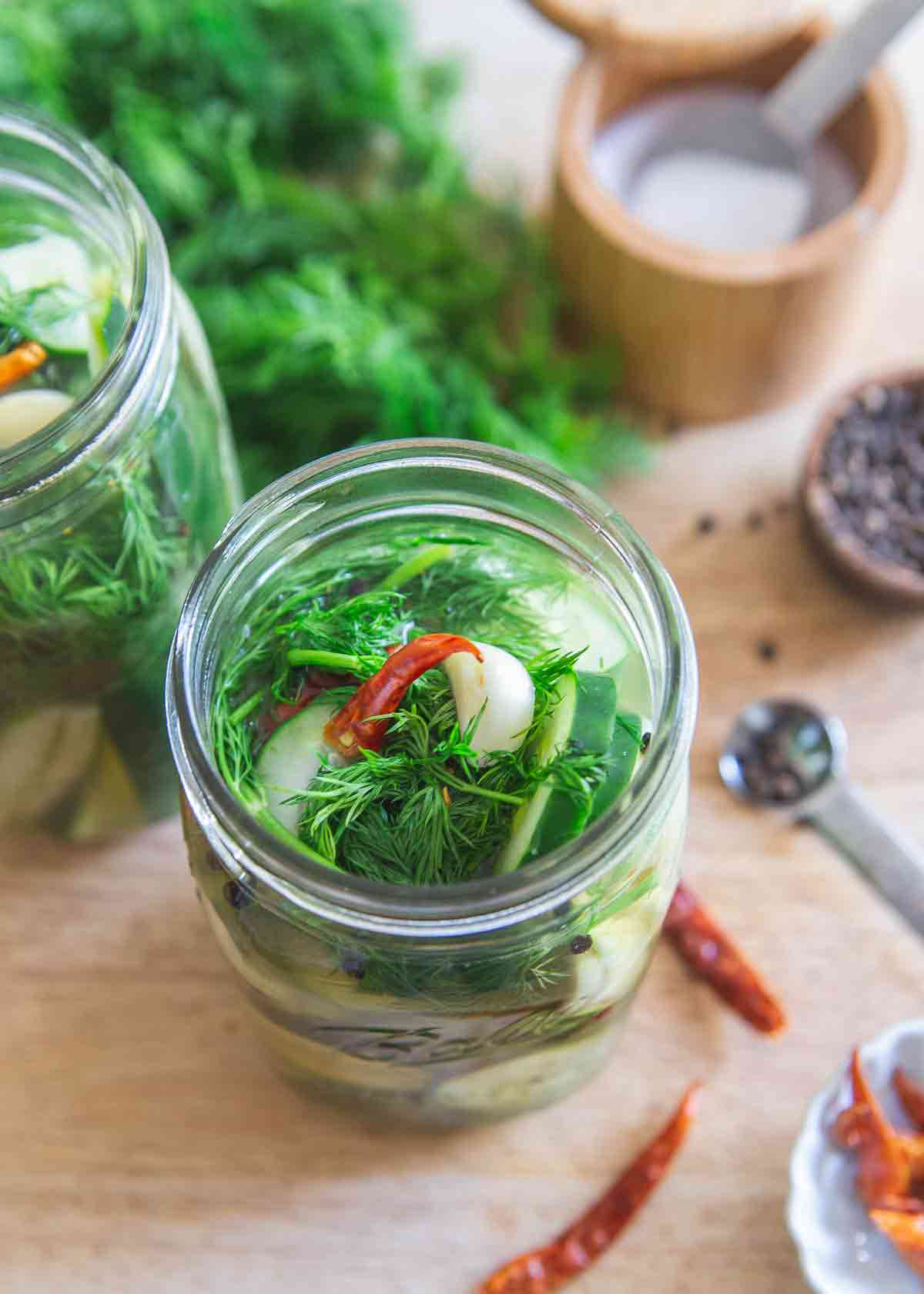 Garlic dill refrigerator pickles are so easy to make you'll never need to buy store bought again!