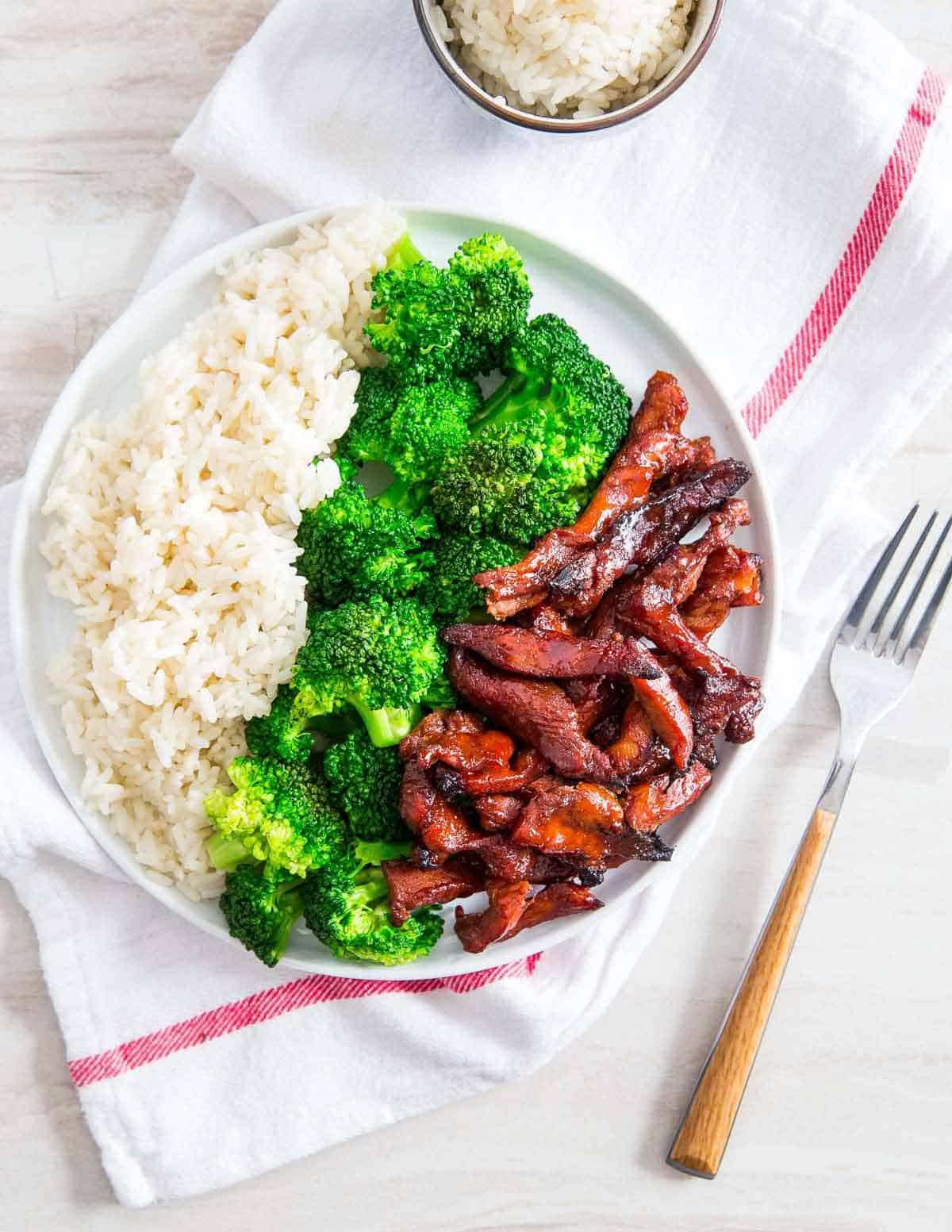 Enjoy these homemade Chinese boneless spare ribs with some white rice and steamed vegetables.