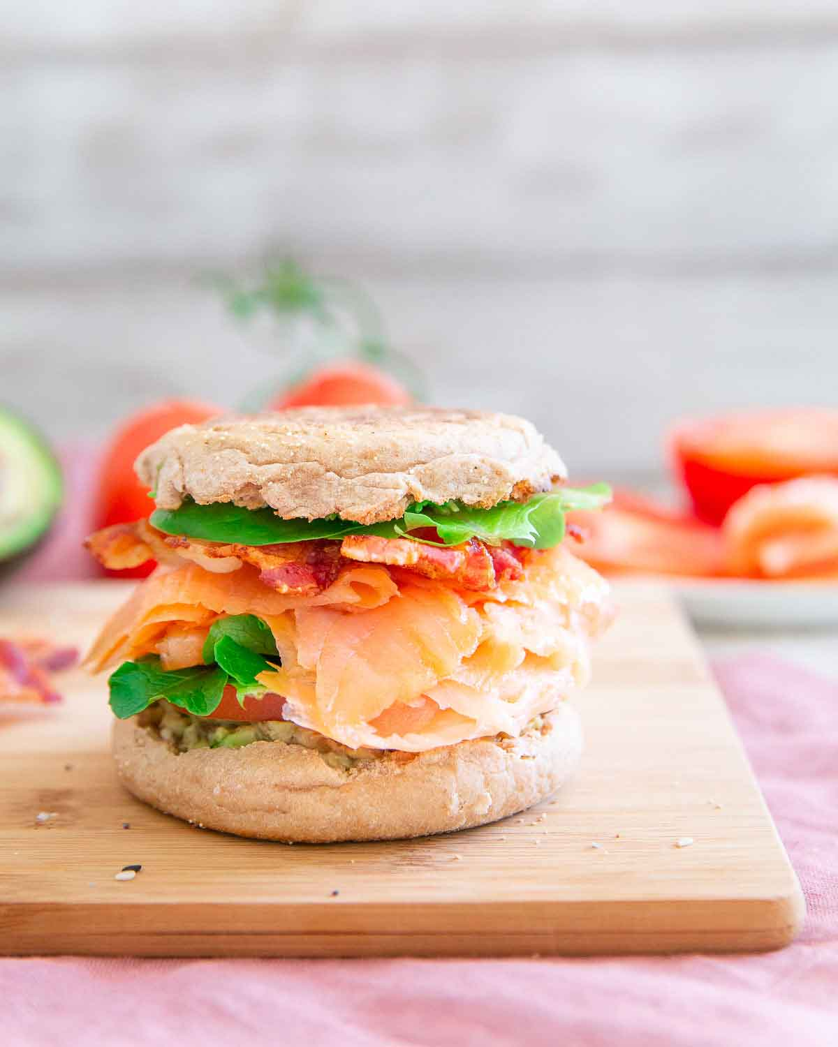 This smoked salmon BLT with avocado and everything bagel seasoning is the ultimate weekend breakfast or brunch. Pair with a good Bloody Mary and enjoy!