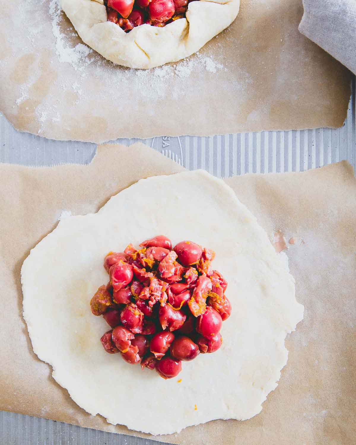 Try these sour cherry mini galettes instead of hand pies next time you want a smaller dessert option.