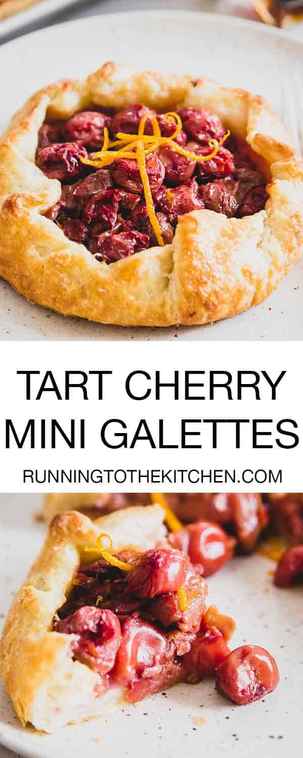 Galettes are even easier than traditional pie - try one of these mini tart cherry and orange galettes for a simple yet stunning dessert.