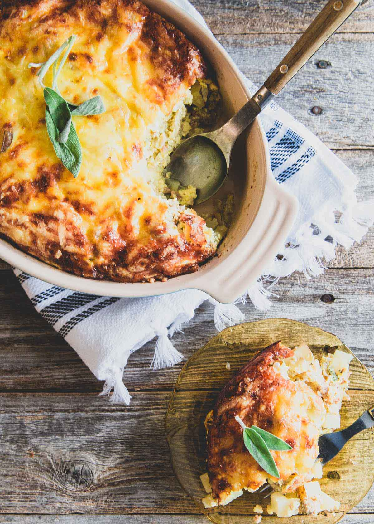Whether it's a weekend breakfast or a special holiday brunch, this cheesy breakfast potato casserole is a delicious and hearty recipe to try!