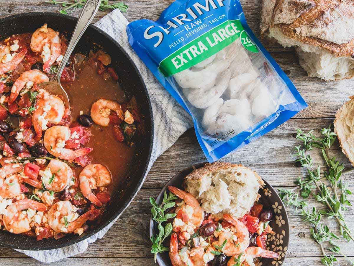 This Greek shrimp dish is healthy and delicious and ready in just 30 minutes.