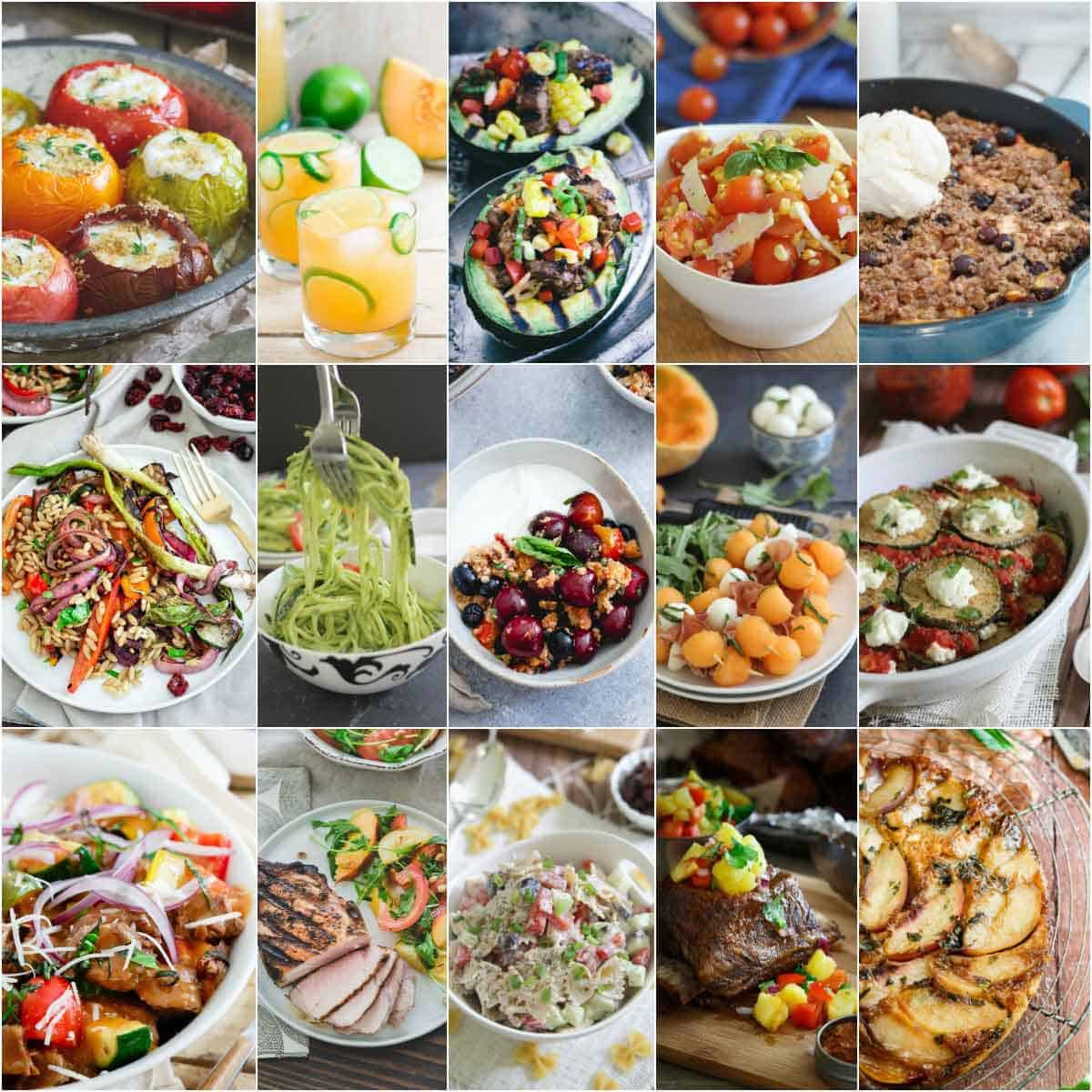 15 easy and healthy summer recipes to make all season long. From healthy appetizers, salads, drinks, main dishes and dessert, there's a summer recipe for everyone!
