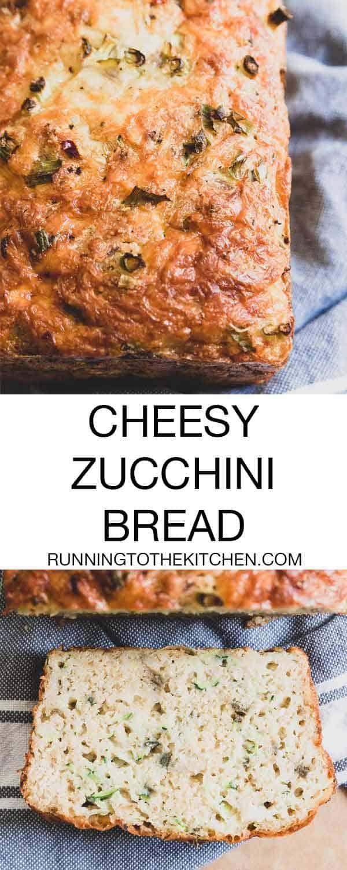 A delicious cheesy zucchini bread recipe perfect for summer.