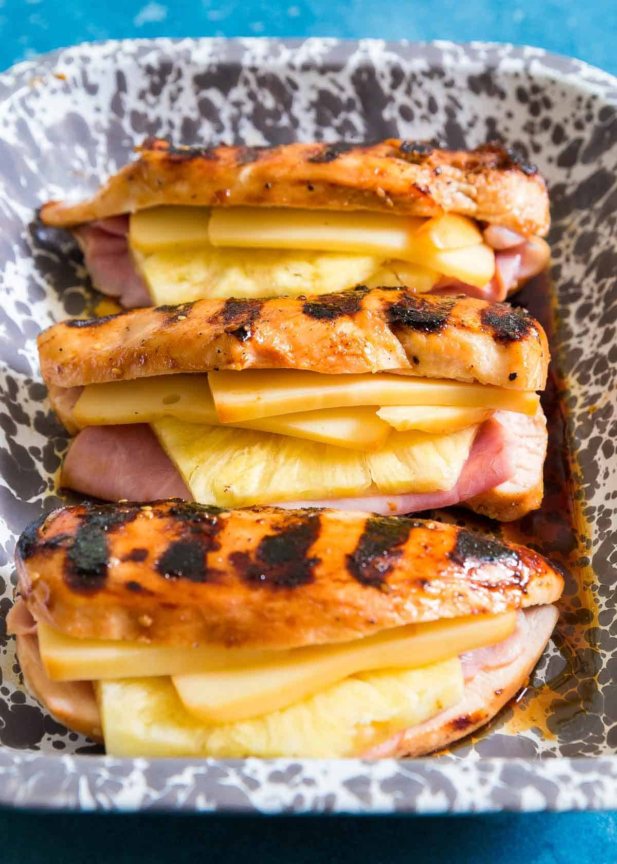 This easy Hawaiian chicken dish is made on the grill for a simple and delicious dinner idea.