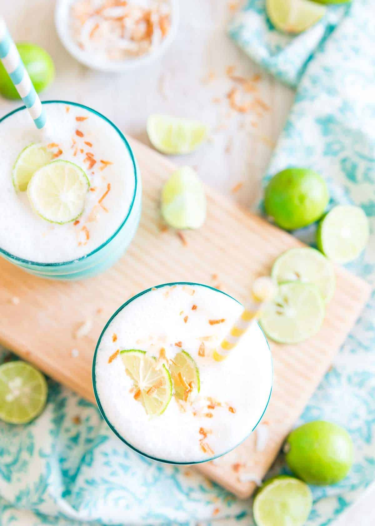 One sip of this key lime smoothie and you'll think you're on a beach vacation.