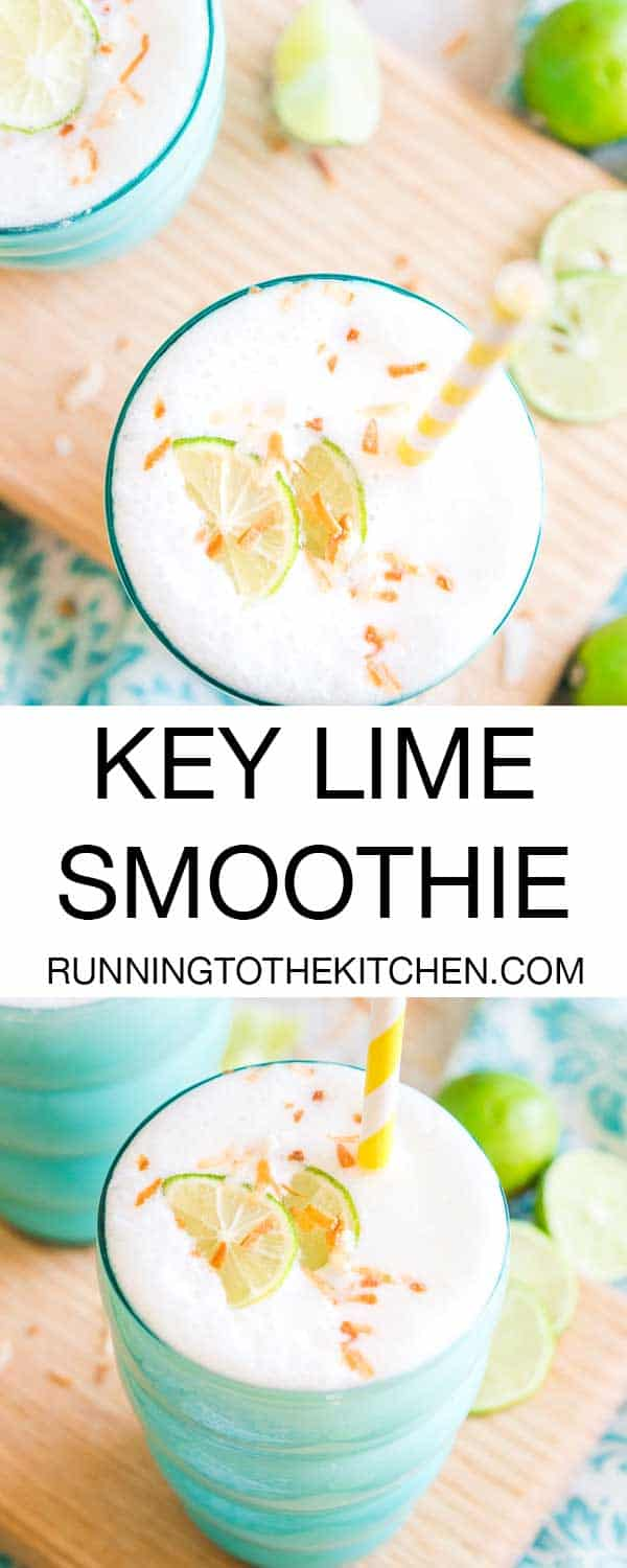 This key lime pie smoothie recipe tastes just like a drink you'd get on a tropical beach vacation except it's healthy and easy to make at home!