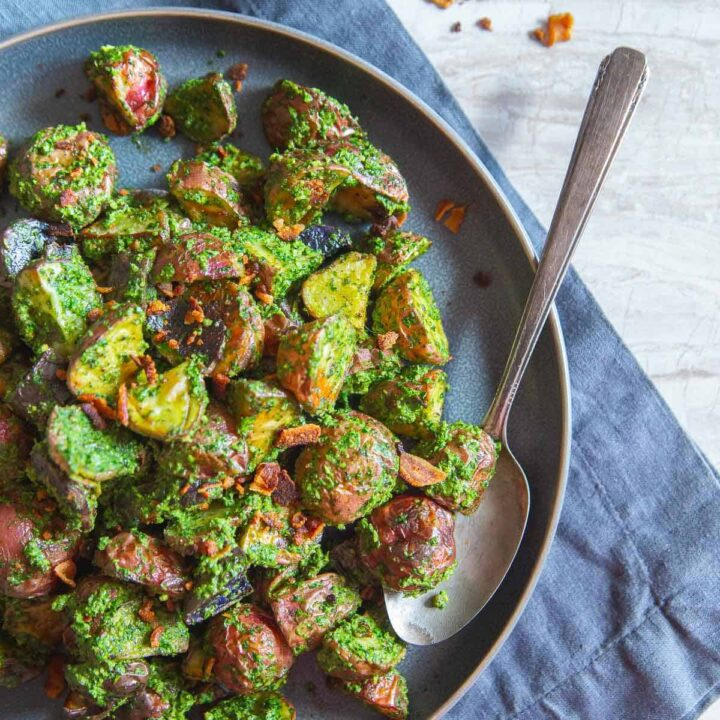 Roasted Pesto Potatoes