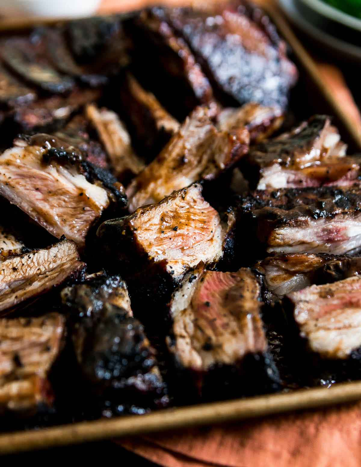 Grilled lamb ribs are packed full of BBQ flavor and the perfect summer recipe.