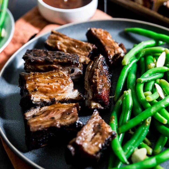 Grilled BBQ Lamb Ribs