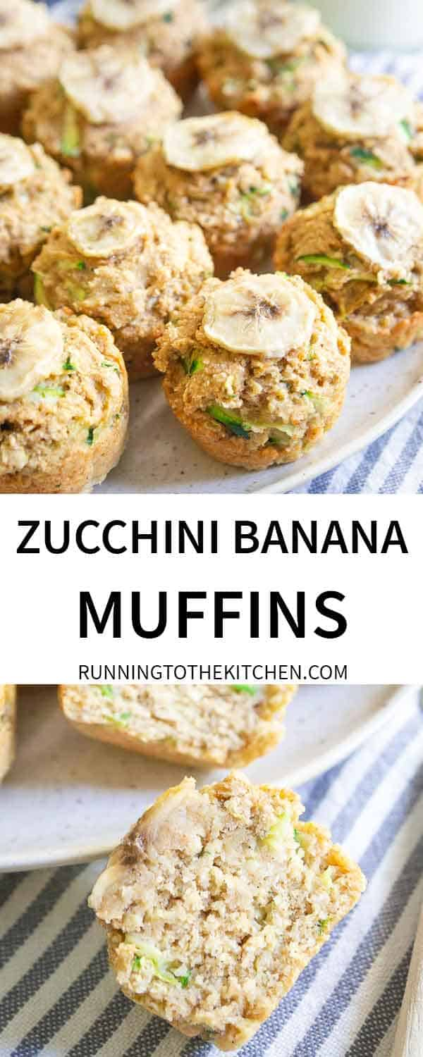 Try one of these zucchini banana oat muffins for a simple, tasty and healthy snack.