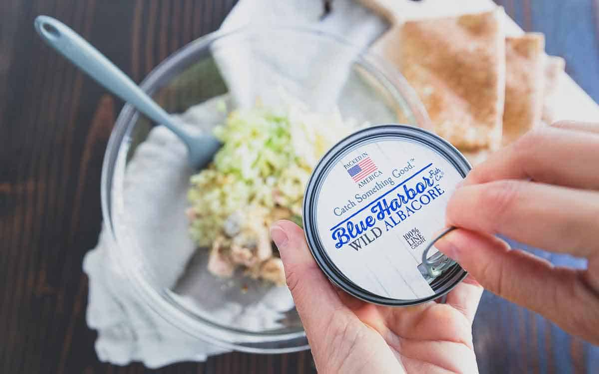 An easy tuna patties recipe using wild canned tuna, apples, cheddar and dijon mustard.