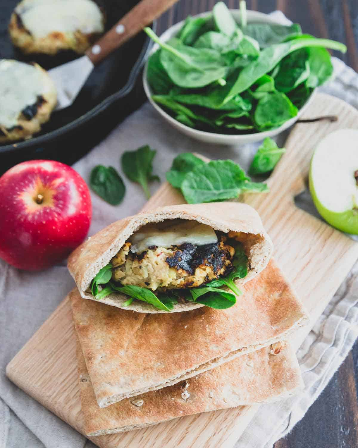 Enjoy these apple cheddar tuna patties in a pita pocket, on a salad or in a bun for an easy lunch.