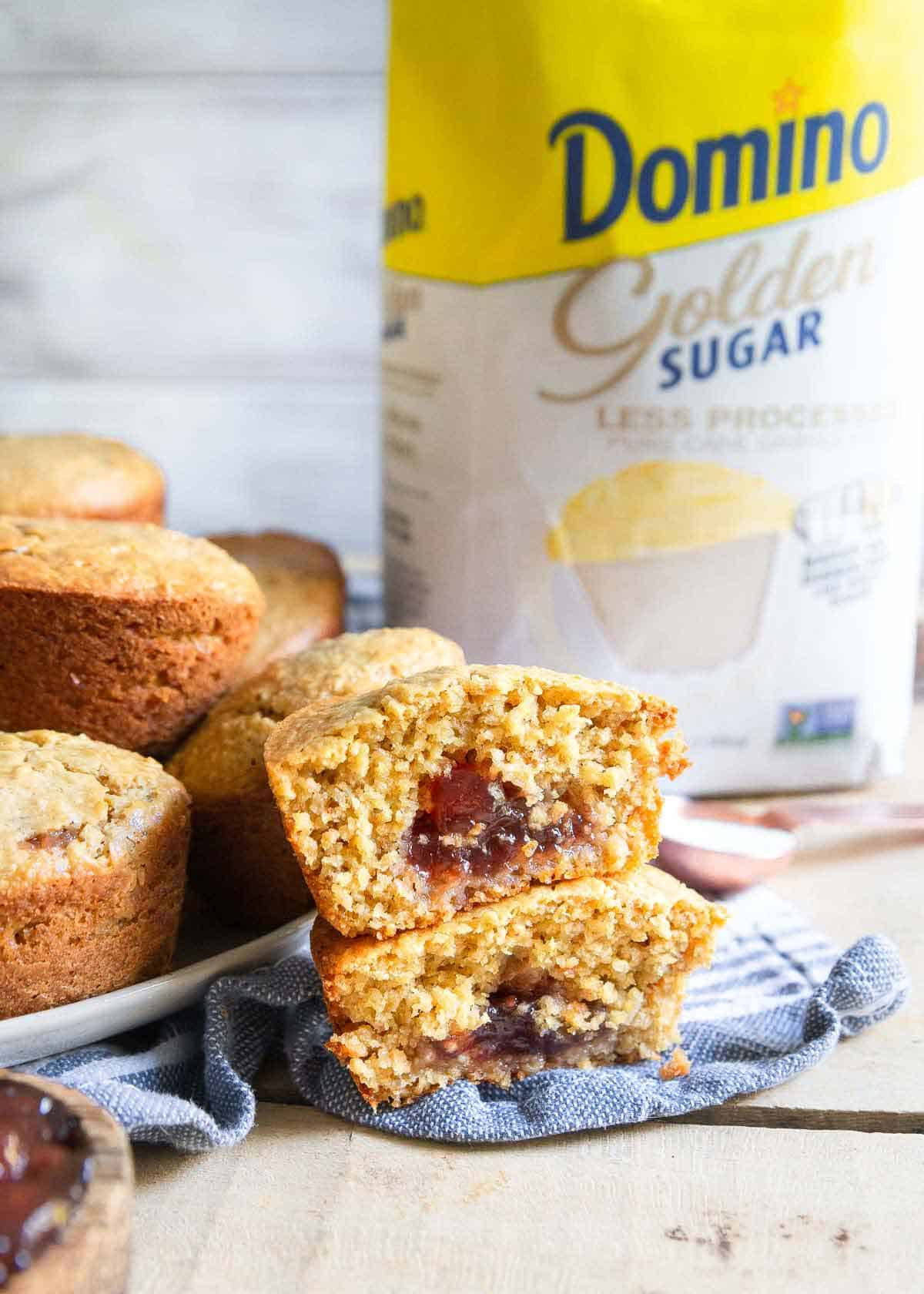 Kids and adults will both love these delicious peanut butter jelly muffins with their fun surprise center!